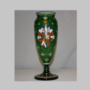 Glaspokal mit Wappen
