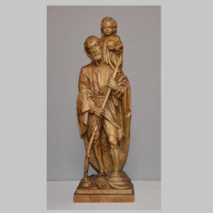 Holzskulptur, Heiliger Christophorus
