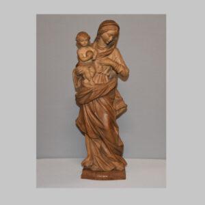 Heilige Madonna, Holz geschnitzt, 20. Jhd.