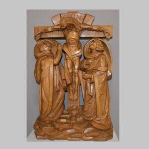 Kreuzigungsgruppe Lindenholz geschnitzt