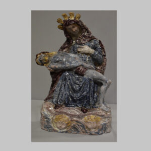 Pietá, 20. Jhd., Keramik glasiert