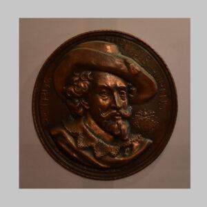 Wandteller, Porträt von Rubens