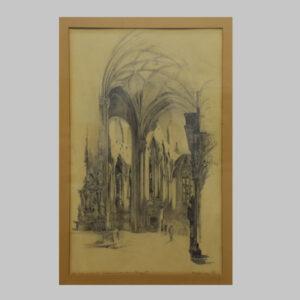 Stephansdom, 1945, Zeichnung
