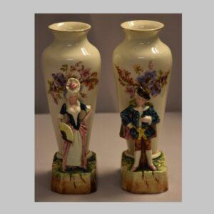 Vasenpaar, Vase mit Figur, Nostalgie