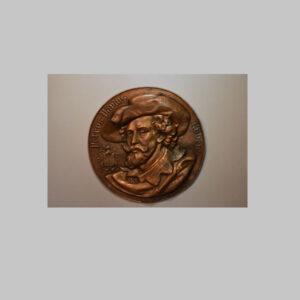 Wandteller, Porträt Rubens, Kupfer